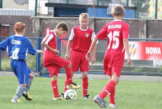Na zdjęciu w akcji młodzicy Włocłavii.