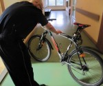 oznakowany rower